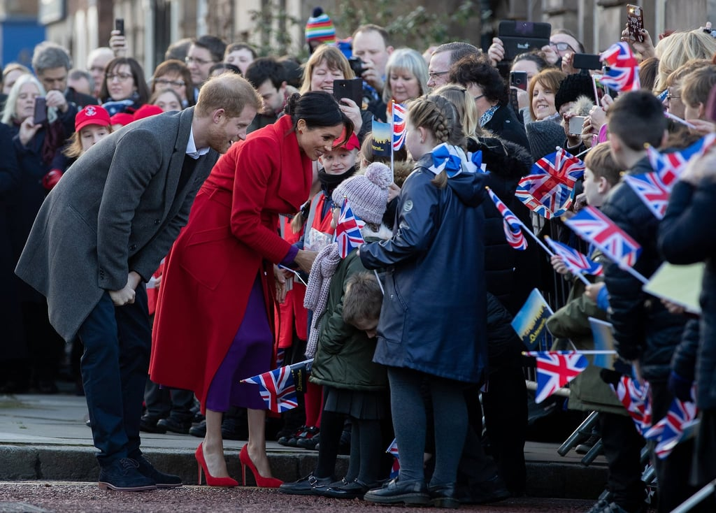 "When Prince Harry and Meghan Markle make a public appearance, fans gather from far and wide to greet the famous royals. Such was the case on Jan. 14, when the parents-to-be visited Birkenhead, England. Harry melted hearts everywhere as he hugged a little girl holding a ""Gingers Unite"" sign, and according to People, the duke and duchess went the extra mile while greeting blind children. ""In the square, there were some blind children who wanted to touch the royal faces because they couldn't see them,"" said local member of Parliament Frank Field. ""Both of them went down on their haunches so the children could touch their faces."" Aw! Harry and Meghan also received a special gift from one of the kids, according to Twitter user @TraceyMariex. Her niece, who is blind, gave the couple a handmade card in braille. ""Harry held on to her ensuring she was safe,"" Tracey wrote. ""Meghan went down on the floor to take a card she had made for her in braille. They'll make great parents."" Meghan and Harry are gearing up to welcome a baby of their own sometime in late April, and we can't wait to see all the joy and cuteness that comes along with the newborn's arrival!      Related:                                                                                                           Is Meghan Meghan Having a Boy or a Girl? The Duchess's Response Might Surprise You"