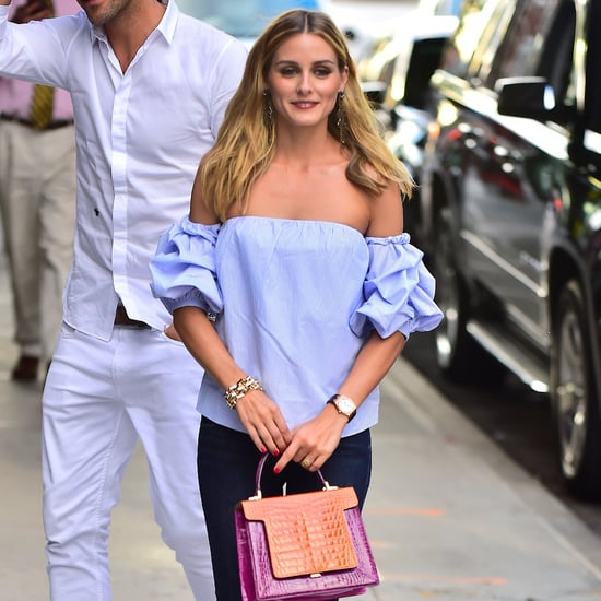 Olivia Palermo Wearing Off-the-Shoulder Top
