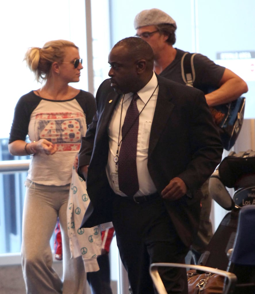 Britney Spears and Sons at LAX Pictures