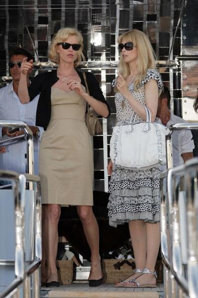 May 22: Eva Herzigova and Claudia Schiffer on Stefano Gabbana's yacht, Regina D'Italia