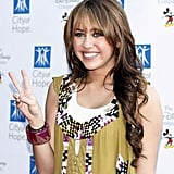 Miley Cyrus at the City of Hope Benefit in September 2008