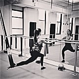 Love this lunge variation Alessandra is doing.