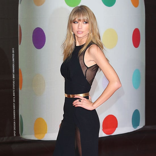 Taylor Swift in Sheer Black at Gown Brit Awards (Video)
