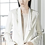 A white blazer is a must and can take the place of your black blazer all Spring.