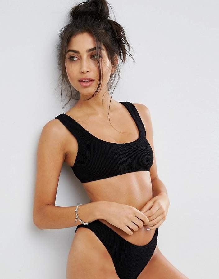 30568f8beb7ff Asos Mix and Match Crinkle Bikini | Iskra Lawrence Wearing a Black ...
