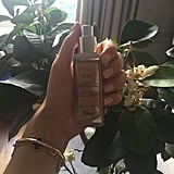 "Tiredness, stress and travel can be tough on skin. I like to prepare mine with a good moisturiser to keep it hydrated and protected. I try to use natural products, such as pure argan or almond oil, and use a light liquid foundation to give a natural, flawless look - I love ""Star"" from Dior."