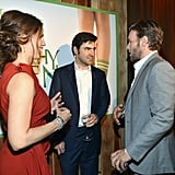 Jennifer Garner, Ron Livingston and Joel Edgerton at the LA premiere of The Odd Life of Timothy Green.
