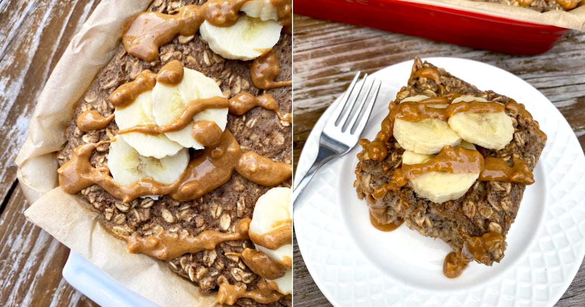 This Vegan Peanut-Butter Banana Baked Oatmeal Is Sugar-Free and Offers 18 Grams of Protein