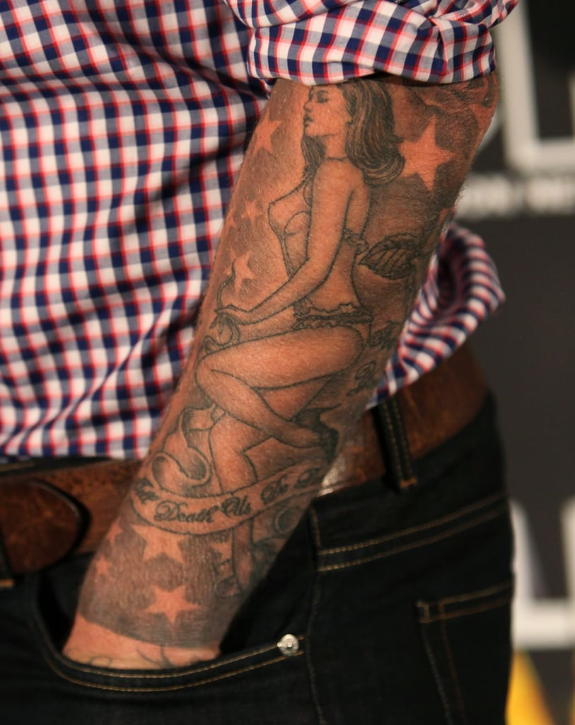 David paid tribute to his wife with a sleeve of a lingerie for David beckham tattoo sleeve