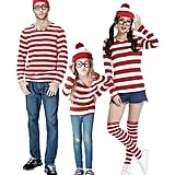 Peachi Red and White Stripe Cosplay T Shirt Family Halloween Costume