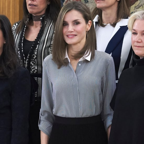 Queen Letizia's Striped Shirt February 2017