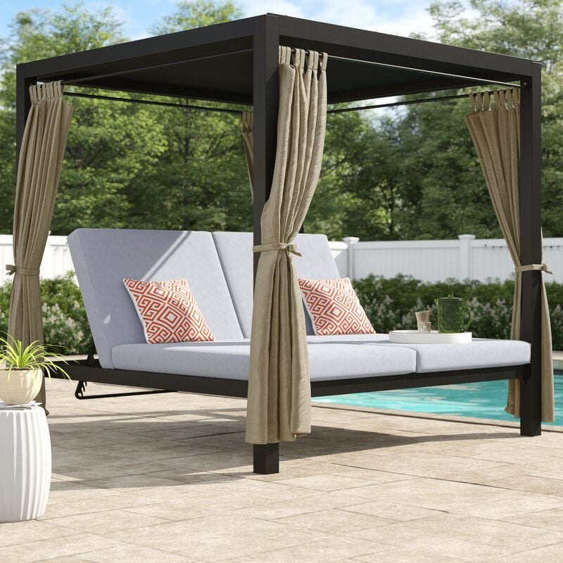 Brayden Studio Aaron Patio Daybed with Cushion