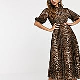 ASOS Design Pleated Midi Dress