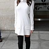 A White Turtleneck Dress