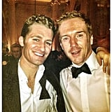 Matthew Morrison posed at a black-tie event with Homeland's Damian Lewis. Source: Twitter user Matt_Morrison