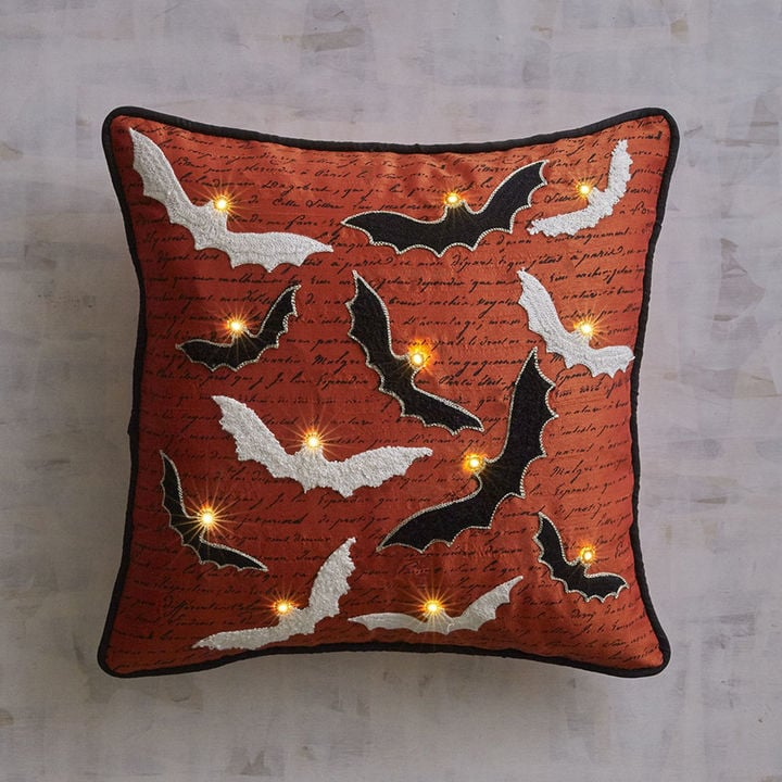 pier 1 imports halloween bats led light up pillow halloween decorations from pier 1 imports popsugar home photo 10 - Light Up Halloween Decorations