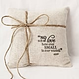 Rustic Aesop Quote Pillow ($40)