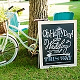 A Welcoming Chalkboard Sign