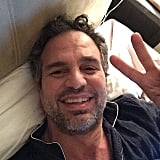 Mark Ruffalo won an award and gave his acceptance speech from his bed.