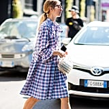 A plaid shirt dress is the perfect everyday Autumn uniform.