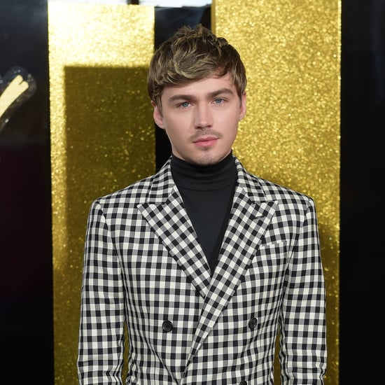 Miles Heizer Checkered Suit at 2017 MTV Movie Awards