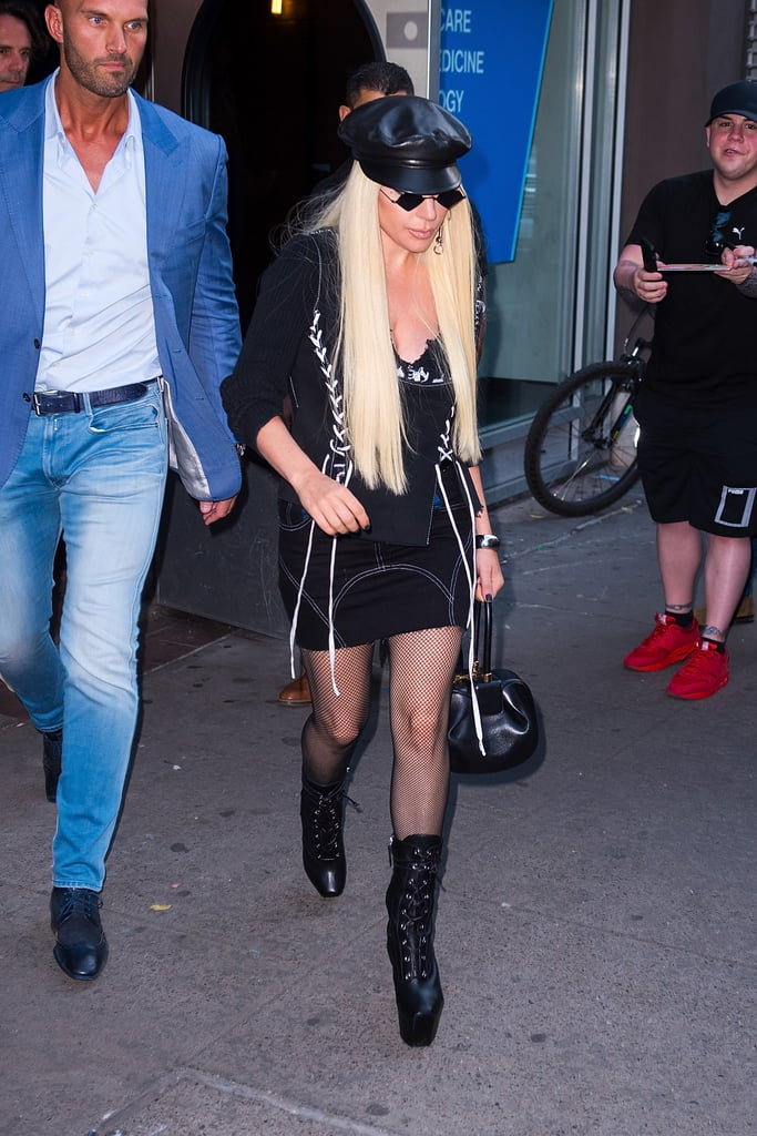 Giving us classic Lady Gaga vibes in this rocker look.