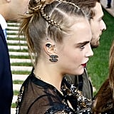 Cara Delevingne's Braided Top Knot, 2016
