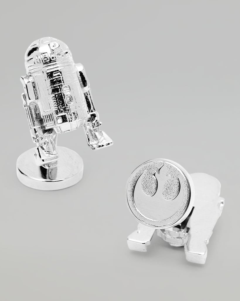 It's a droid so adorable that you just want to carry it around with you all day, and you can! Slip on the platinum-plated R2-D2 Cuff Links ($125), and sport some Rebel Alliance pride at the same time, with the emblem on the backs.