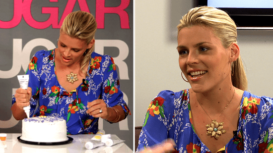 Busy Philipps Cougar Town Interview on Courteney Cox, Jennifer Aniston, Cake Decorating 2010-09-21 12:54:53