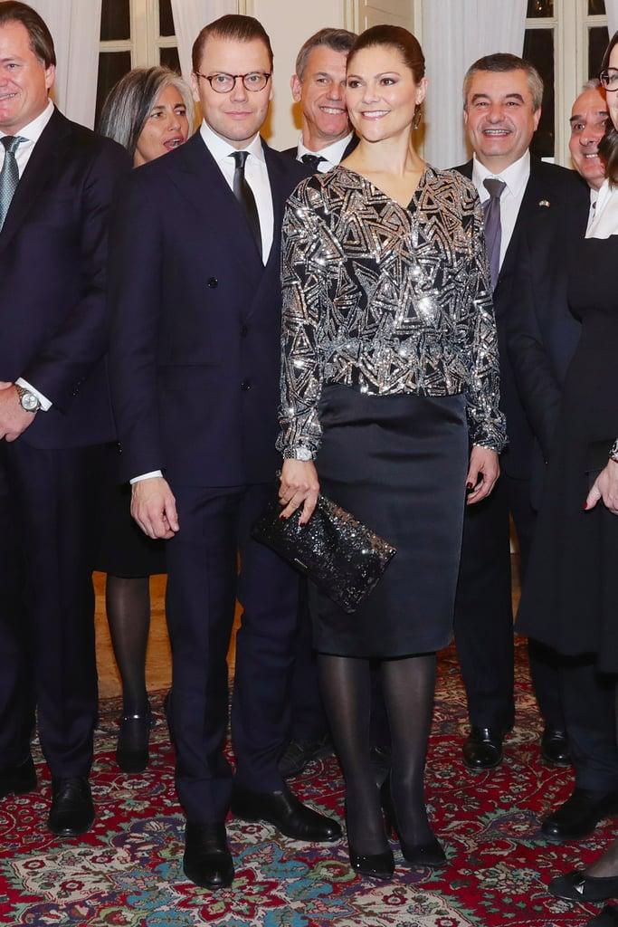 Crown Princess Victoria Daisy Grace Sequin Top December 2016