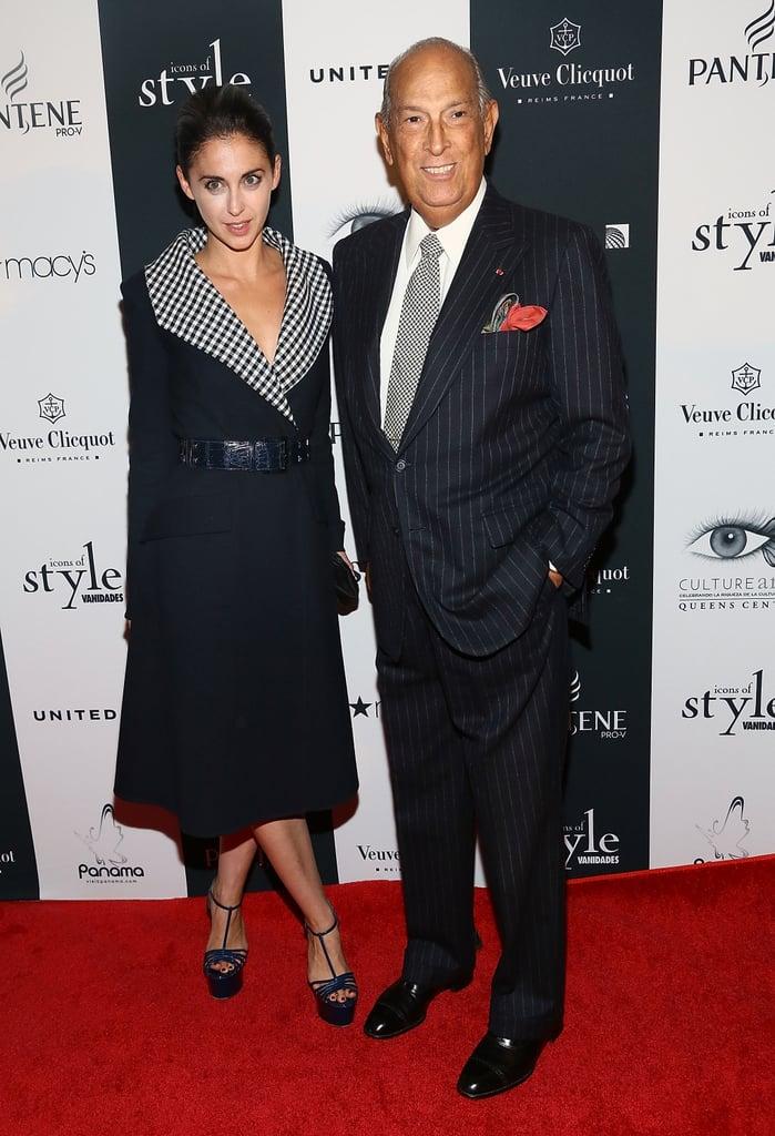 Erika Bearman joined Oscar de la Renta at the Icons of Style Gala.