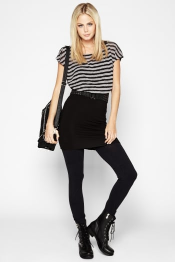 Bcbgeneration Striped Top-Overlay Dress ($59, originally $78)