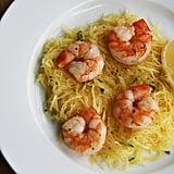 Paleo: Shrimp Over Spaghetti Squash