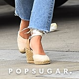She Finished Her Look Off With a Pair of Lace-Up Castañer Espadrilles