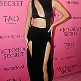 Gigi Hadid wearing a House of CB bodysuit at the Victoria's Secret afterparty in 2015.