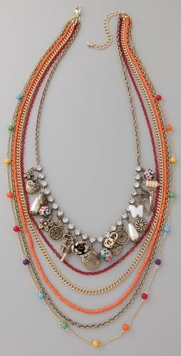 Adia Kibur Long Multi-Strand Charm Necklace ($68)