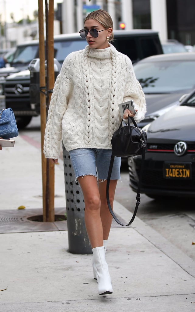 Hailey Baldwin White Kenneth Cole Boots
