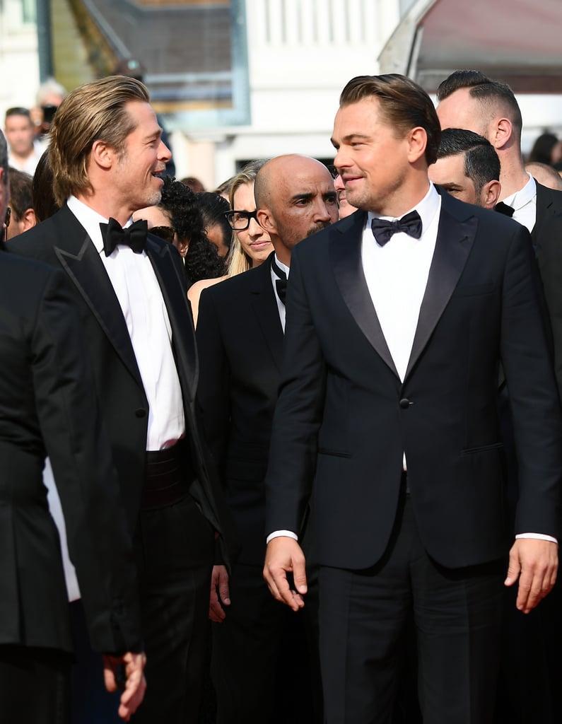 Brad Pitt and Leonardo DiCaprio at Cannes Film Festival ...