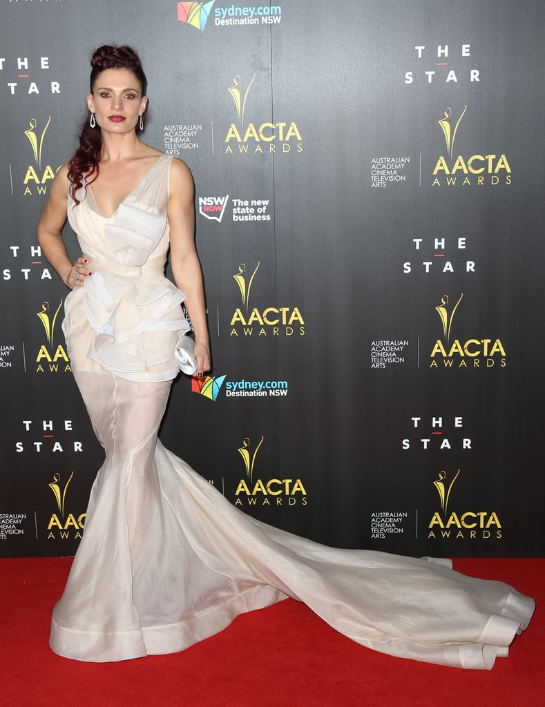 Wentworth star Danielle Cormack went for drama with her look.