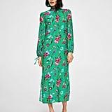 Mango Floral Bow Dress