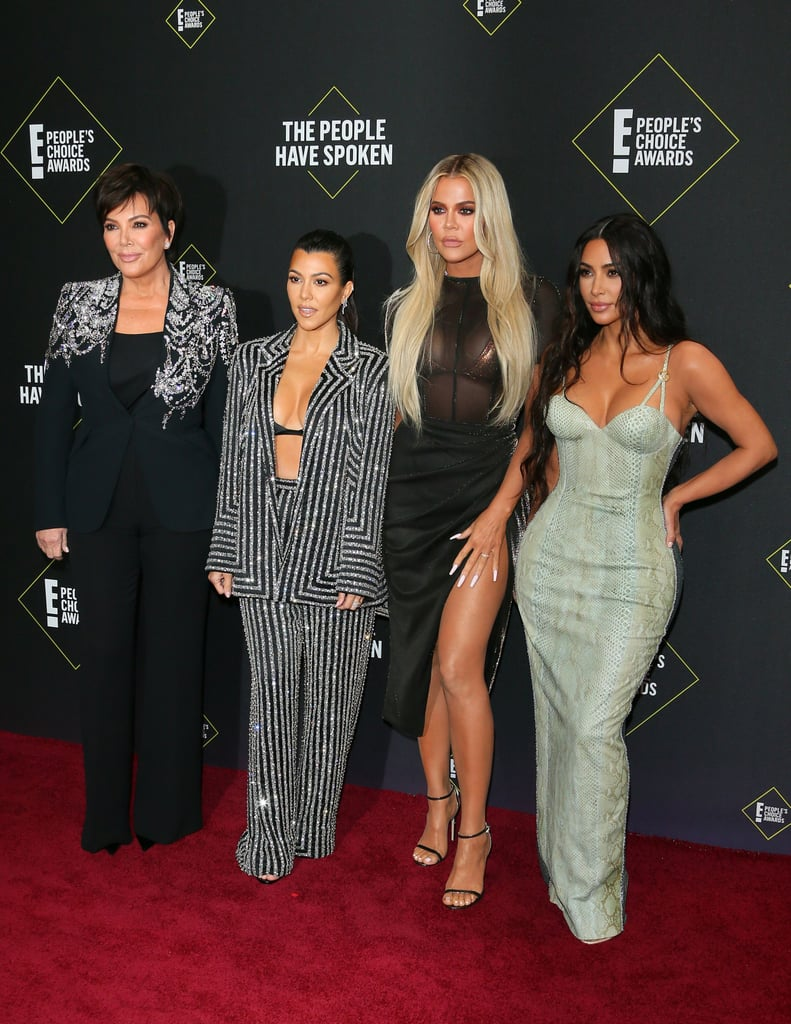 Kris Jenner With Kourtney, Khloé, and Kim Kardashian at the 2019 People's Choice Awards