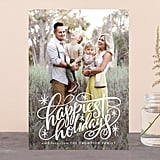 Hand Lettered Happiest Holidays Card from Minted ($1-$3 per card)