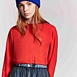Forever 21 Cropped Drawstring Sweatshirt