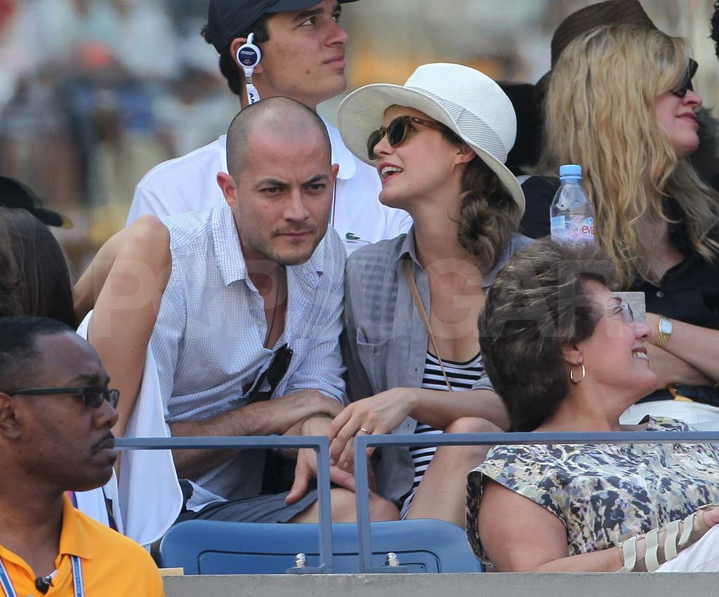 Pregnant Keri Russell and Shane Deary at the US Open ...