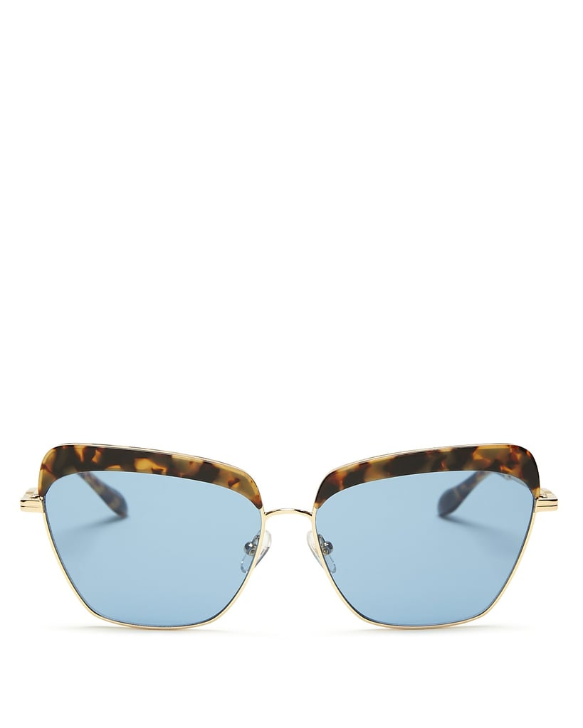 Sonix Highland 61mm Square Sunglasses ($98) break up the blue with a dose of classic tortoise.