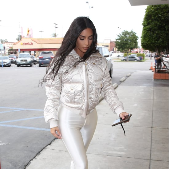 Kim Kardashian's White Leggings and Chanel Jacket