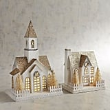 LED Light-Up Golden Glittered Church or House ($25)