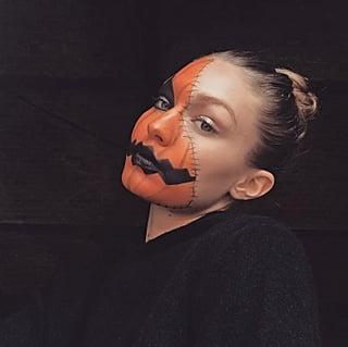 Gigi Hadid Halloween Jack-o'-Lantern Makeup 2018