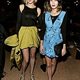 Leelee Sobieski and Alexa Chung met up at the Proenza Schouler fashion show.