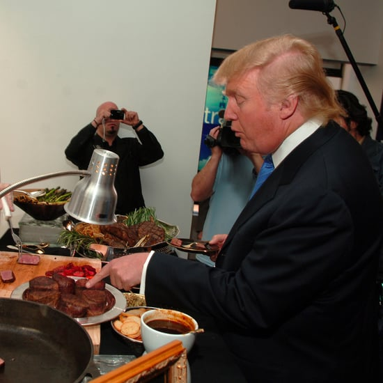 Donald Trump Served Steak and Ketchup in Saudi Arabia
